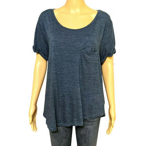 H&M Basic Heather Blue Short Sleeve Tee L Women's